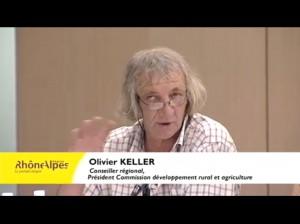 Olivier Keller intervient durant la conférence régionale sur les gaz de schiste