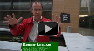 Benoit Leclair vice président à l'énergie et au climat en explique les territoires à énergie positive