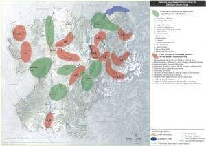 La carte de la trame verte et bleue en Rhône-Alpes pour l'eau et la biodiversité