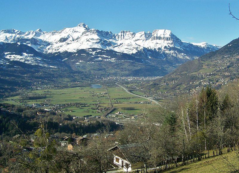 Vallée de l'Arve depuis Saint-Gervais (Photo Florian Pépellin cc)